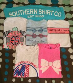 Southern Shirt Co, Simply Southern, Vineyard Vines, Marley Lilly, and KMSS tshirt collection