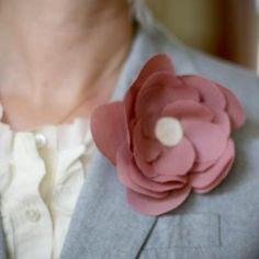 Fabric Flower Pin {No-Sew}
