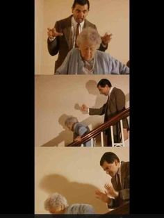 When people walk slowly in front of me. Lol Mr. Bean