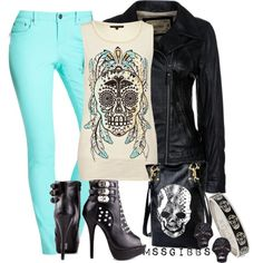 Skull Retouched by mssgibbs on Polyvore