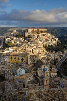 Panoramic view of Ragusa, Sicily