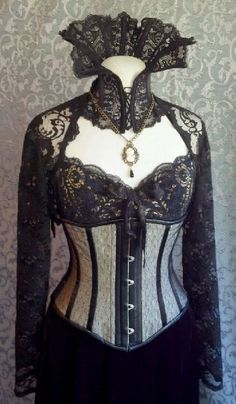 Dramatic Victorian Steampunk Gothic Vampire Corset Outfit from kvodesign on Etsy Viktorianischer Steampunk, Costume Steampunk, Steampunk Outfits, Gothic Outfits, Steampunk Clothing, Steampunk Fashion, Steampunk Dress, Gothic Clothing, Steampunk Necklace