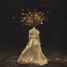 The falling of autumn darkness - Self-portrait Photography by Brooke Shaden