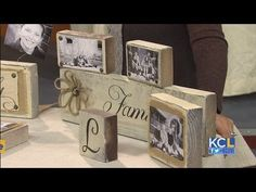 KCL - How to make Photo Blocks & Holders for holiday gifts. Our favorite DIY Lady, Leanne Lee from Rekindled Spaces, is at it again. Get ready for the holidays with DIY Photo Blocks & Holders. Baby Christmas Gifts, Diy Holiday Gifts, Christmas Wood, Diy Gifts, Christmas Crafts, Christmas Signs, Handmade Gifts, Photo On Wood, Picture On Wood
