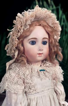 Very Beautiful French Bisque Bebe Triste by Jumeau in Rare Size 9