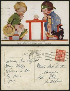 MABEL LUCIE ATTWELL 1929 Postcard Cat Crystal Ball 1355 cb3f89da8fec
