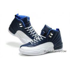 online retailer 8dd7f fb9ed MENS AIR JORDAN 12 BLUE WHITE SHOES Online