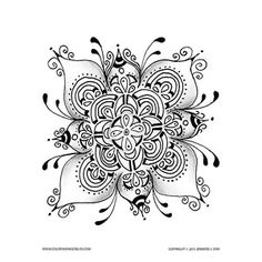Free Floral Mandala Coloring Page