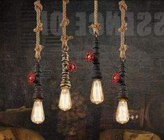 32.95$  Watch now - https://alitems.com/g/1e8d114494b01f4c715516525dc3e8/?i=5&ulp=https%3A%2F%2Fwww.aliexpress.com%2Fitem%2FIndustrial-Art-Antique-Retro-Creative-Personality-Iron-Mesh-Cage-Lamps-Oak-Pendant-Lamp-Restaurant-Decoration-Lamp%2F32554631085.html - Industrial Vintage Personality Creative Iron and Hemp Rope Pendant Light Restaurant Cafe Bar Decoration Retro Lamp Free Shipping 32.95$