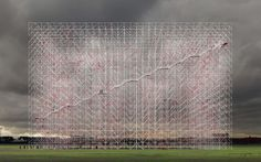 A Ghostly Memorial to Lost Architecture Recreates It In Scaffolding