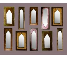 Upcycled Wall Mirrors in Teakwood