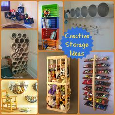I fear we all face this dilemma: Where will I put this? I have scouted around for some creative ways to stow your kiddos stuff!            ...