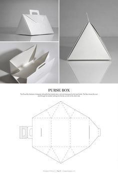 Purse Box – structural packaging design dielines: