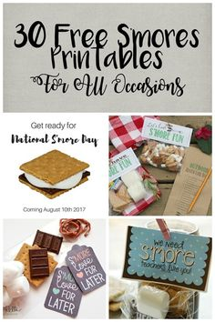 Not In Jersey: 30 Free S'mores Printables For All Occasions Teacher Appreciation Gifts, Teacher Gifts, Student Gifts, Smores Kits, Diy Crafts To Do, Free Printable Gift Tags, S'mores Bar, Printables, Gift Ideas