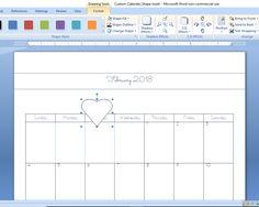 How to Create a Custom Calendar in Word - Calyx & Corolla Custom Calendar, Diy Calendar, Organizing Paperwork, Organization, Create A Calendar, Drawing Tools, 3 D, Positivity, Time Management