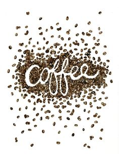 Coffee Beans Art Print #coffeebeans