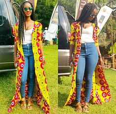 African/ethnic /ankara women long coat by AFROCOLLECTION2015