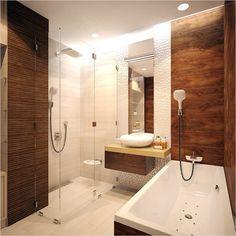 Отделка ванной комнаты плиткой под дерево - Дизайн интерьеров   Идеи вашего дома   Lodgers
