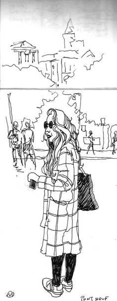 Alsace and Bourgogne: Drawing People