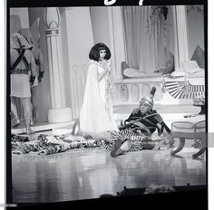 June 6 1964 - Buster seems to have done another pratfall  - at 68!!! with Gloria Swanson on Hollywood Palace