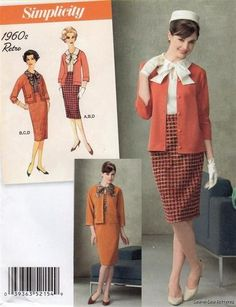 Simplicity 2154 SEWING PATTERN 6-14 Retro Vintage Suit Skirt Jacket Blouse 60s | eBay