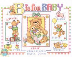 Janlynn - B is for Baby Birth Announcement - Cross Stitch World
