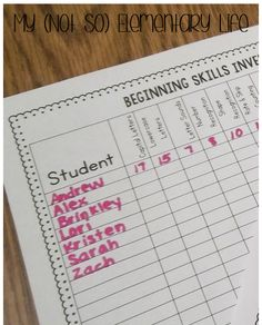 Kindergarten Skills Assessment...great for beginning, middle, and end of the year assessments.