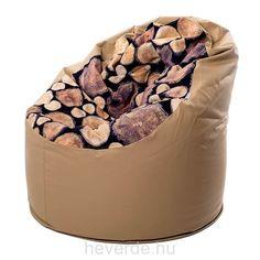 Fa mintás-bézs nagy babzsákfotel