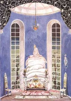 Princess & the Pea ~ by Kay Nielsen (1886-1957, Danish) -- from Hans Christian Andersen (1805-75), Fairy Tales By Hans Andersen (Hodder & Stoughton, 1924).
