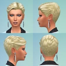 Mod The Sims - Short Slicked Back - gender conversion