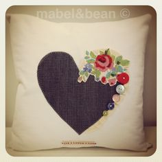 Cool take on embellishing a heart applique.