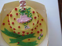 Dorothy the Dinosaur Cake, via Flickr.