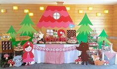 Chloe's Red Riding Hood Dessert Table | CatchMyParty.com