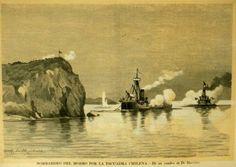 Bombardeo al Morro de Arica por parte de la Escuadra Chilena ..... Año 1879