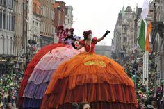 Desfile por las calles de Dublín para celebrar el día de San Patricio, patrón de Irlanda, 2015.