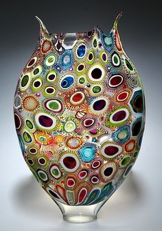 """Murrine Foglio"" Art Glass Vessel Created by David Patchen"