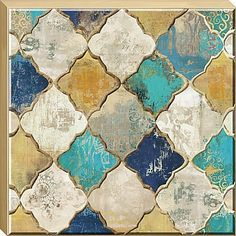 Bring a piece of the past into your interior's present with this iconic Moroccan Quatrefoil Wall Art. Its fashionable antiqued aesthetic complements a gold finished frame. Enhance surrounding pieces with this eye-catching accent.