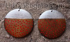 mihkwâpoy earrings - hand painted contemporary Native American jewelry by Urban regalia