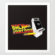 BACK TO THE ARCADE Art Print by Stan Gozer - $14.56