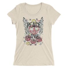 Peace Love Wings Design | Men's And Women's T-Shirt Styles