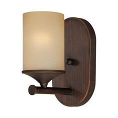 Millennium Lighting 1-Light Rubbed Bronze Standard Bathroom Vanity Light