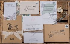 Eclectic Woodland Wedding Invitation // Photo by Retrospect Images, see more: http://theeverylastdetail.com/eclectic-woodland-wedding-inspiration/