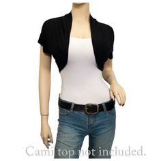 Plus Size Open Front Cropped Bolero Shrug