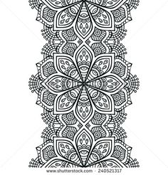 Stock Images similar to ID 103161836 - ornamental round floral pattern. Mandala Drawing, Mandala Tattoo, Mandala Art, Adult Coloring Book Pages, Colouring Pages, Line Design Pattern, Phulkari Embroidery, Tattoo Project, Indian Patterns