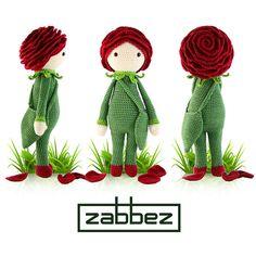 Crochet pattern amigurumi doll Rose Roxy PDF van Zabbez op Etsy, €5.50