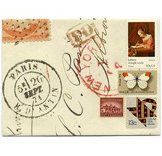 envelopes with vintage stamps from Greer Chicago @Rachel Nelson