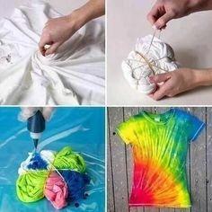 T-shirt ververven