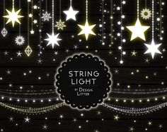 Lights clipart lights strings clip art PNG fairy lights Christmas lights wedding lights party lights digital light stars instant download by DesignLitter  5.00 USD  Light strings. Bright clip art in white and light yellow. String light clip art including 26 light elements: stars curtains banners Christmas lights lanterns party lights etc. You will receive: 26 strings lights clip art elements on transparent background .PNG high resolution 300 dpi approximately 12 inches in their longest side…