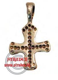 Et kors fra den sene vikingetid lavet i bronze.  Lavet efter et fund fra Sverige.  Bredde: 1.5 cm
