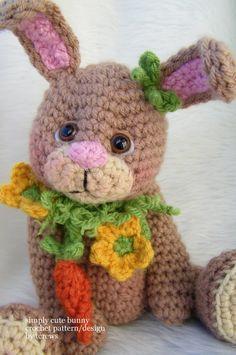 Bunny crochet pattern, Etsy